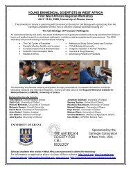 First West African Regional Workshop - American Society for Cell ...