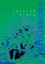 Stüürbord Ausgabe 2003-01 - Seeclub Stäfa