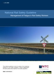 National Rail Safety Guideline – Management of Fatigue in