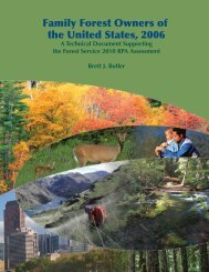 contents - Northern Research Station - USDA Forest Service