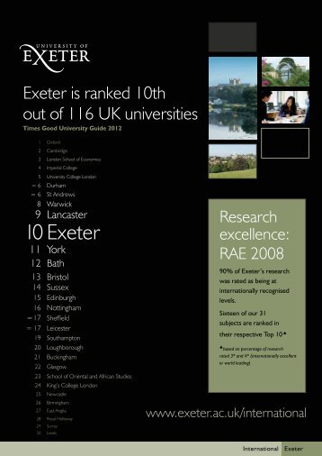 Times Good University Guide - University of Exeter