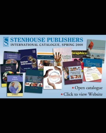 Stenhouse Publishers International Catalogue, Spring 2008