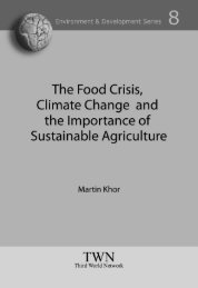 The Food Crisis, Climate Change and the Importance of Sustainable ...