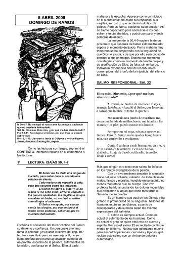5 ABRIL 2009 DOMINGO DE RAMOS - Escucha de la Palabra