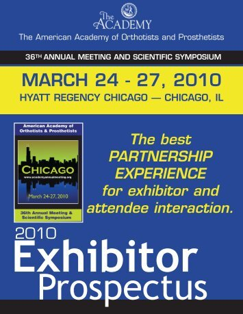 MARCH 24 - 27, 2010 - American Academy of Orthotists & Prosthetists
