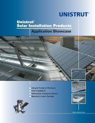 Unistrut® Solar Installation Products Application Showcase
