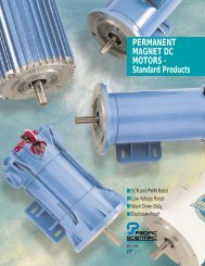 PERMANENT MAGNET DC MOTORS – Standard Products