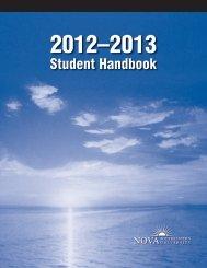 NSU Student Handbook 2012-2013 - Nova Southeastern University