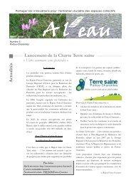 A ctu alités Lancement de la Charte Terre saine