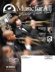 Middle School Newsletter - May 2010 - Music for All