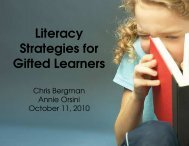 Literacy Strategies for Gifted Learners