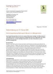 Vereinsgründung Naturpark Beverin in Wergenstein - Berggebiete.ch