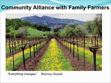 Community Alliance with Family Farmers - CASAP