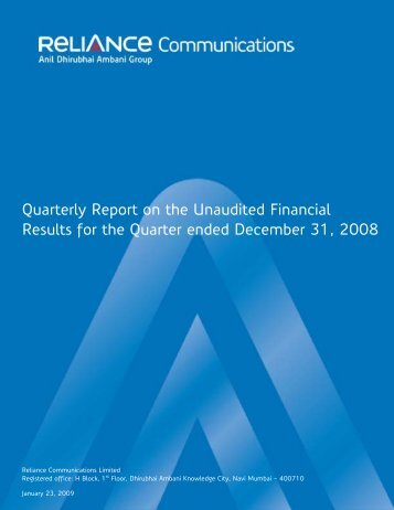 Quarterly Report on the Unaudited Financial Results for ... - Domain-b