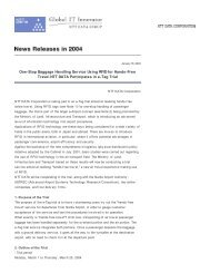 One-Stop Baggage Handling Service Using RFID for ... - NTT Data