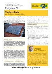 Ratgeber 50 - Photovoltaik - umweltberatung