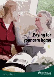 Paying for your care home - Oxfordshire County Council