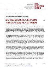 Die Innenstadt-Plattform wird zur Stadt-Plattform