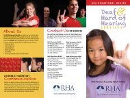 Deaf Hard of Hearing - RHA Behavioral Health