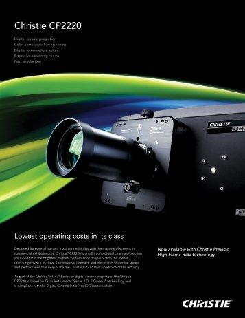 Christie CP2220 Datasheet - Christie Digital Systems