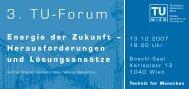3. Tu-Forum 3. Tu-Forum - Technische Universität Wien