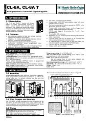 CL-8A, CL-8A T - Visonic Technologies
