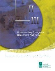 Understanding Emergency Department Wait Times: Access to ... - CIHI