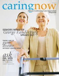 George VanderBurg - Alberta Continuing Care Association