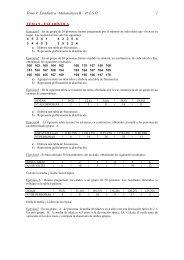 Estadística –Matemáticas B – 4º ESO 1 TEMA 9