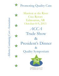 2013 Sponsorship/Trade Show Package - Alberta Continuing Care ...