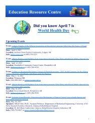 ERC eMailout - April 2013.pub - Alberta Continuing Care Association