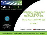 Biodiesel Paving the Way for DoD's Renewable Future - NDCEE