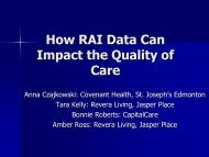 How RAI Data Can Impact the Quality of Care