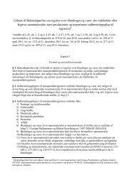 Udkast til Bekendtgørelse om register over blandinger og varer ... - Net