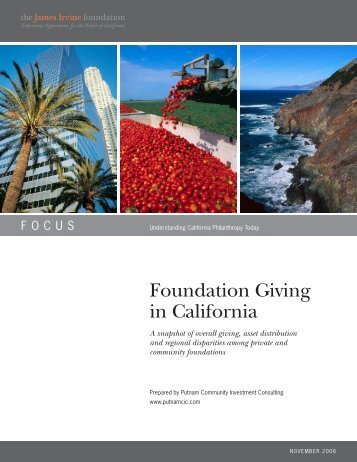 Foundation Giving in California - FOLIO Home