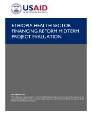 Ethiopia Health Sector Financing Reform Midterm Project Evaluation