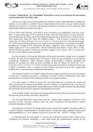 Lettera aperta - Associazione Italiana Familiari e Vittime della Strada