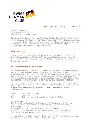 lesen - Swiss German Club