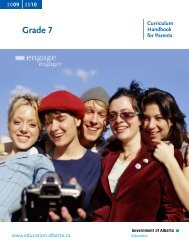 Grade 7 Curricular Handbook for Parents - Alexandra Middle School