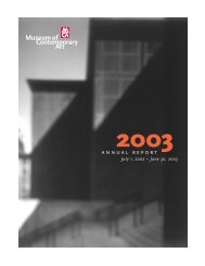 2003 - Museum of Contemporary Art Chicago