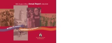 Download the Annual Report in PDF - SDSU Student Affairs