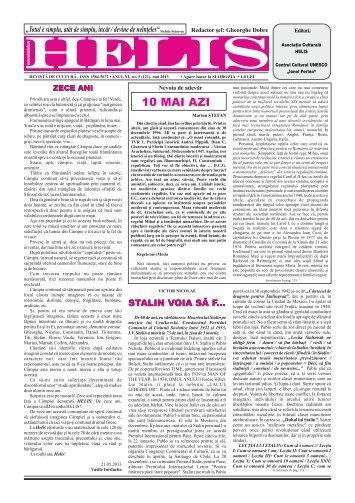 Helis mai 2013 pentru tipar - Revista HELIS