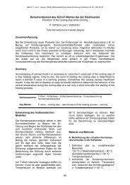 Berechenbarkeit des Kühl-F-Wertes bei der Sterilisation