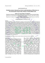 Oxidative stress induced by chronic administration of Efavirenz on ...