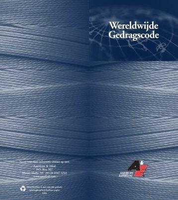 Wereldwijde Gedragscode Wereldwijde Gedragscode - American ...