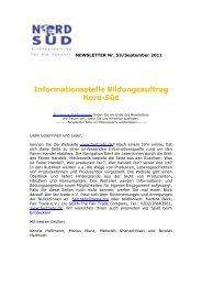 Newsletter Bildungsauftrag Nord-Süd Nr. 53 / September 2011 - WUS