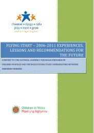 CYP(4)-02-11 Paper 2 - Evidence from Flying Start Co-ordinators ...