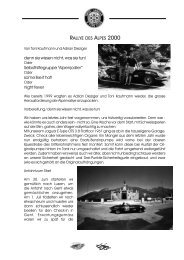 Bericht 1. Teil PDF (269 KB) - Swiss Jaguar