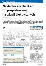 Nakładka ZucchiniCad do projektowania instalacji elektrycznych