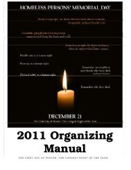 2011 Organizing Manual - National Coalition for the Homeless